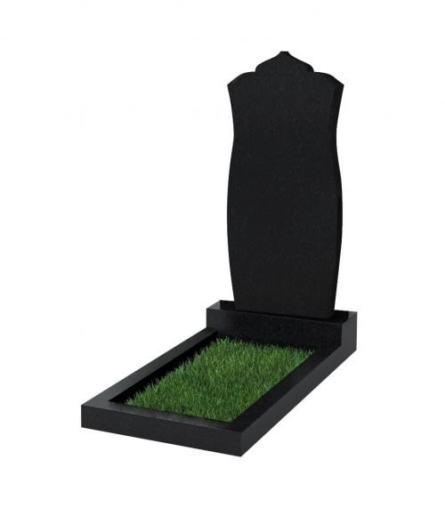 Памятник №105 резной вертикальный 900*400*70 (Китай, черный К06)