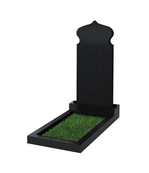 Памятник №106 резной вертикальный 900*400*70 (Китай, черный К06)