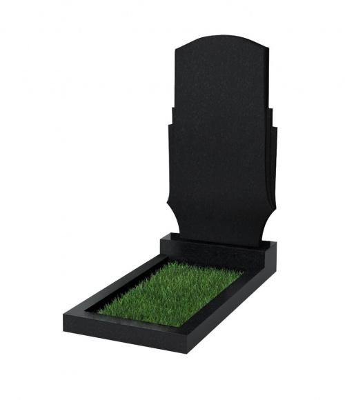 Памятник №113 резной вертикальный 1100*600*70 (Китай, черный К06)