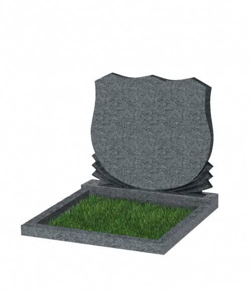 Памятник №86 экономный горизонтальный 700*900*50 (Китай, темно-серый К04)