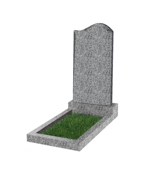 Памятник №14 экономный вертикальный 1000*500*50 (Китай, светло-серый К03)