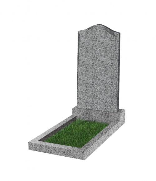 Памятник №22 экономный вертикальный 1000*500*50 (Китай, светло-серый К03)