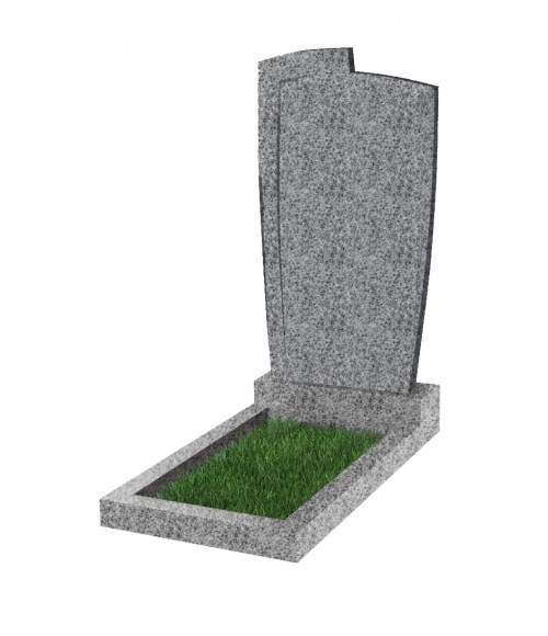 Памятник №81 экономный вертикальный 1000*500*50 (Китай, светло-серый К03)