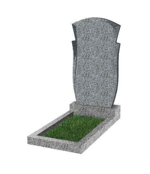 Памятник №82 экономный вертикальный 1000*500*50 (Китай, светло-серый К03)