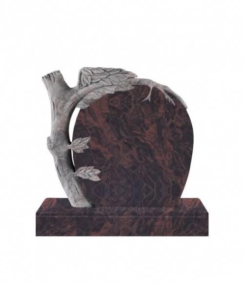 Памятник №16 элитный вертикальный 1000*1100*100 (Индия, коричневый К11)