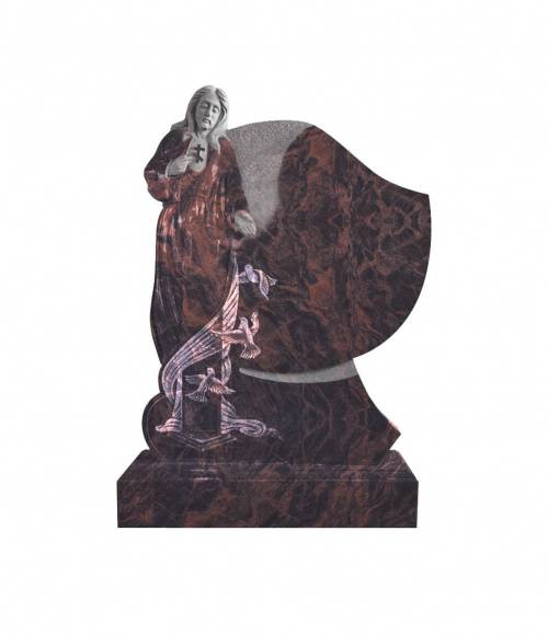 Памятник №18 элитный вертикальный 1300*1000*120 (Индия, коричневый К11)