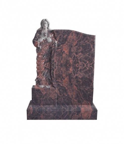 Памятник №21 элитный вертикальный 1300*900*120 (Индия, коричневый К11)