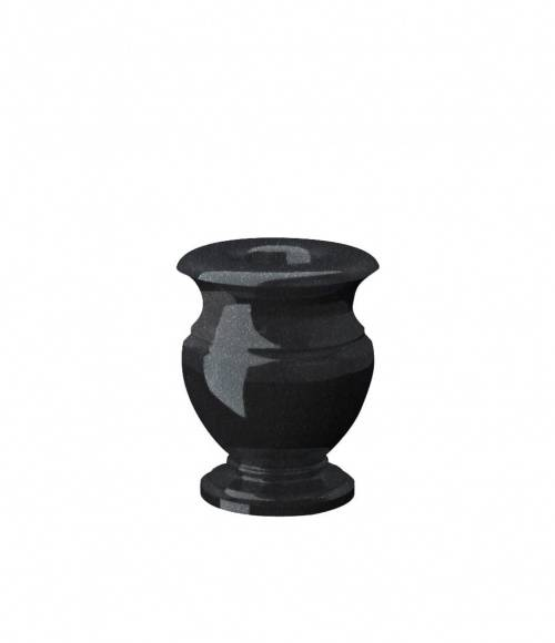 Ваза (Китай, черная К06) H200, D100