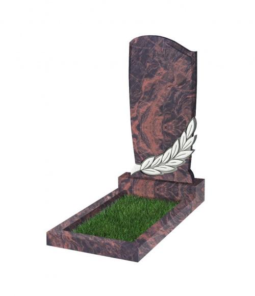 Памятник №96 резной вертикальный 1100*550*70 (Индия, коричневый К11)