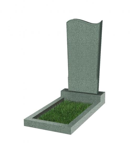 Памятник №13 резной вертикальный 1100*500*70 (Китай, зеленый К02)