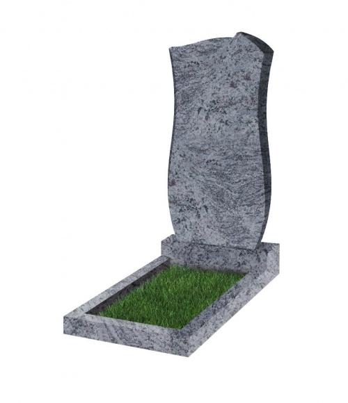 Памятник №41 резной вертикальный 1100*500*70 (Индия, голубой К10)