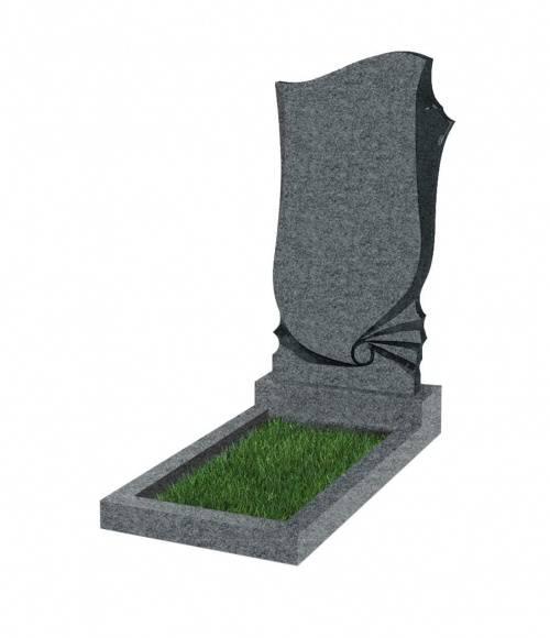 Памятник №57 экономный вертикальный 1000*500*50 (Китай, темно-серый К04)