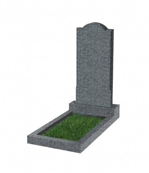 Памятник №10 экономный вертикальный 800*400*50 (Китай, темно-серый К04)
