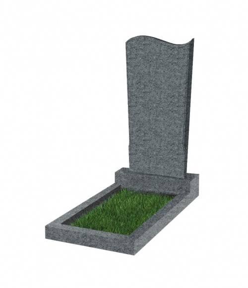 Памятник №13 экономный  вертикальный 800*400*50 (Китай, темно-серый К04)