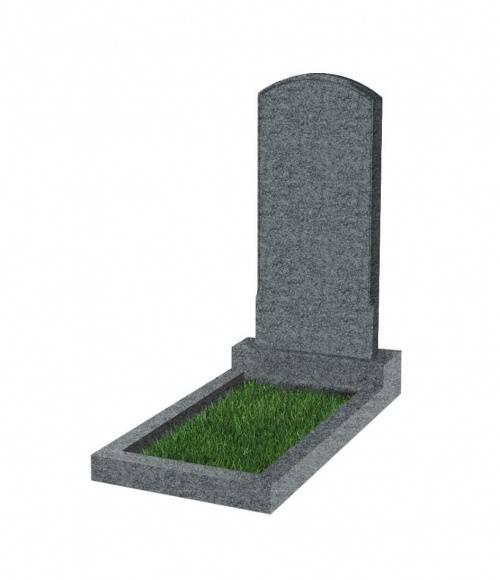 Памятник №18 экономный  вертикальный 800*400*50 (Китай, темно-серый К04)