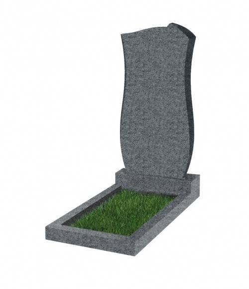 Памятник №41 экономный вертикальный 800*400*50 (Китай, темно-серый G654)