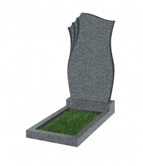 Памятник №20 экономный вертикальный 800*450*50 (Китай, темно-серыйG654)