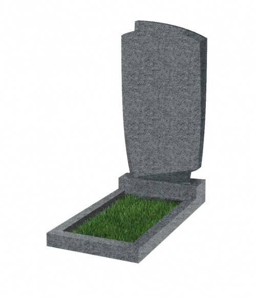 Памятник №39 экономный вертикальный 800*450*50 (Китай, темно-серый G654)