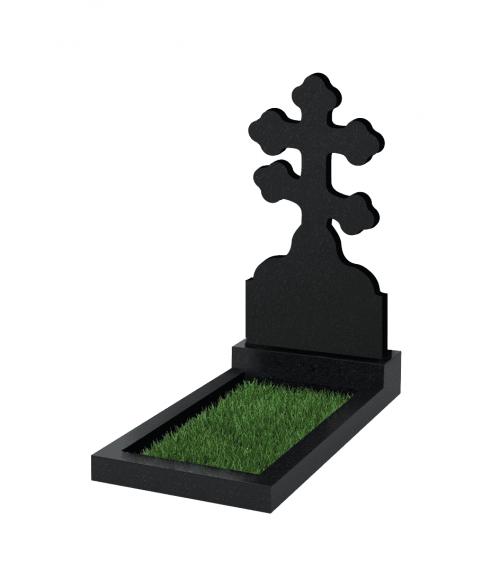 Верона Памятник №114 экономный вертикальный 1000*500*50 (Черный К13)
