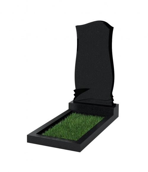 Верона Памятник №48 экономный вертикальный 1000*500*50 (Черный К13)