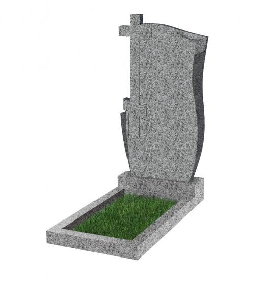 Памятник №74 экономный вертикальный 1000*500*50 (Китай, светло-серый К03)
