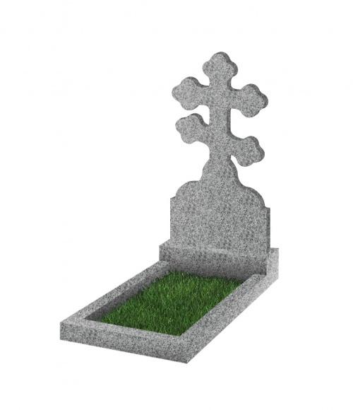 Памятник №114 экономный вертикальный 1000*500*50 (Китай, светло-серый К03)