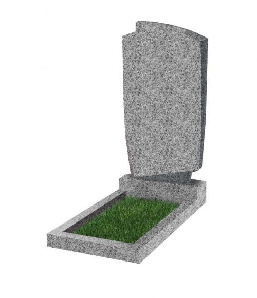 Памятник №39 экономный вертикальный 1000*500*50 (Китай, светло-серый К03)