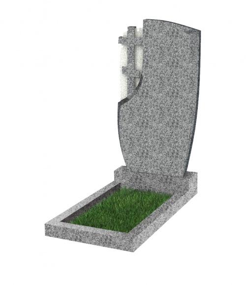 Памятник №75 экономный вертикальный 1000*500*50 (Китай, светло-серый К03)