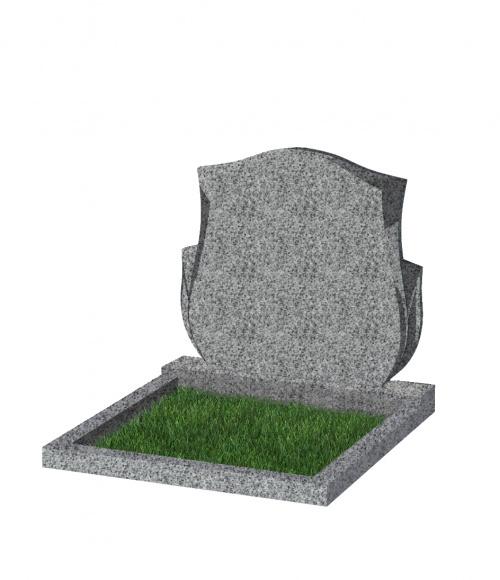 Памятник №87 экономный горизонтальный 700*900*50 (Китай, светло-серый К03)