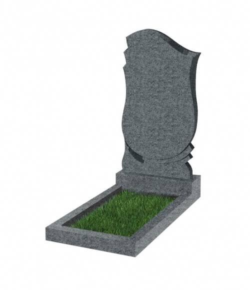 Памятник №58 экономный  вертикальный 800*450*50 (Китай, темно-серый К04)