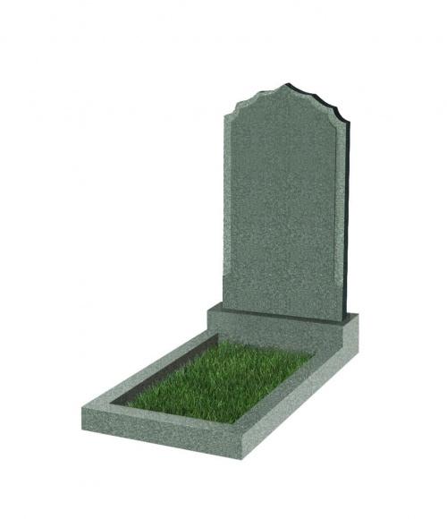 Памятник №93 резной вертикальный 1000*550*70 (Китай, зеленый К02)