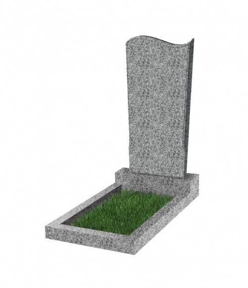 Памятник №13 экономный вертикальный 1000*450*50 (Китай, светло-серый К03)