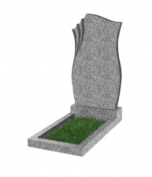 Памятник №20 экономный вертикальный 1000*500*50 (Китай, светло-серый К03)