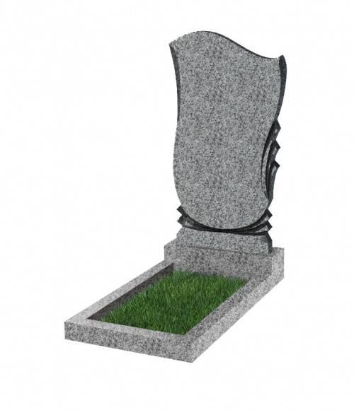 Памятник №56 экономный вертикальный 1000*500*50 (Китай, светло-серый К03)