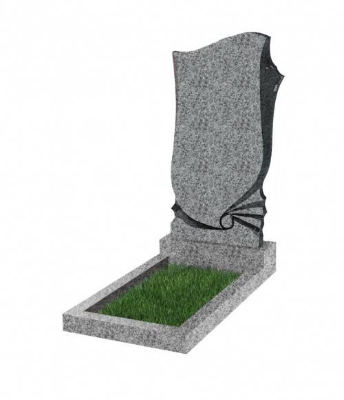 Памятник №57 экономный вертикальный 1000*500*50 (Китай, светло-серый К03)