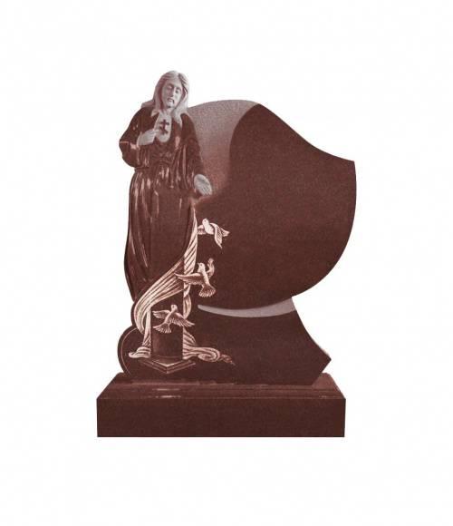 Памятник №18 элитный вертикальный 1300*1000*120 (Индия, красный К05)