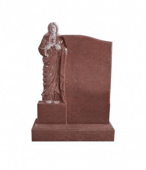 Памятник №21 элитный вертикальный 1300*900*120 (Индия, красный К05)