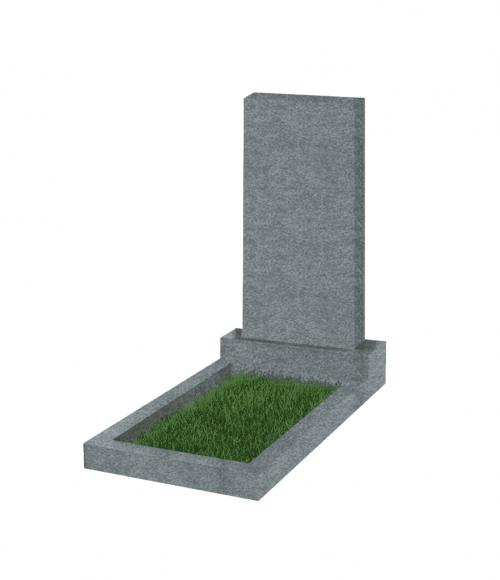 Памятник прямоугольный вертикальный 1000*500*50 (Китай, темно-серый G654)
