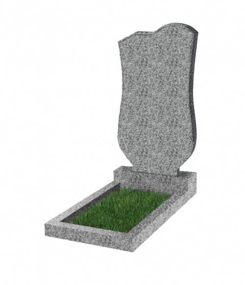 Памятник №15 экономный вертикальный 1000*500*50 (Китай, светло-серый К03)