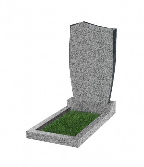 Памятник №29 экономный вертикальный 1000*500*50 (Китай, светло-серый К03)