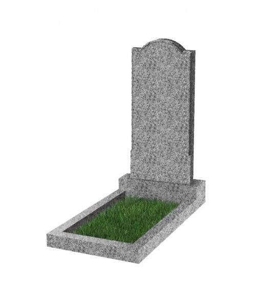 Памятник №10 экономный вертикальный 800*400*50 (Китай, светло-серый К03)