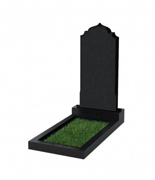 Памятник №19 экономный вертикальный 1000*500*50 (Россия, черный К13)