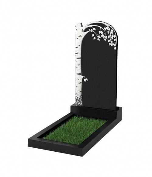 Памятник №84 экономный вертикальный 1000*500*50 (Россия, черный К13)