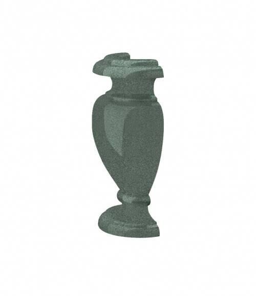Полуваза (Китай, зеленая К02) H300, R65