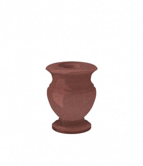 Ваза (Индия, красная К05) H200, D100