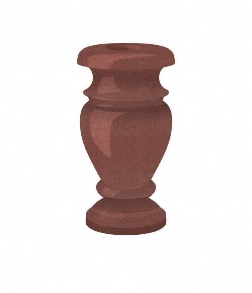 Ваза (Индия, красная К05) H300, D130