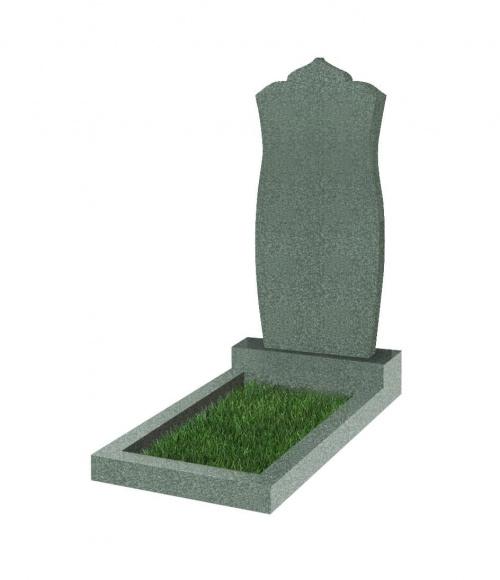 Памятник №105 резной вертикальный 900*400*70 (Китай, зеленый К02)