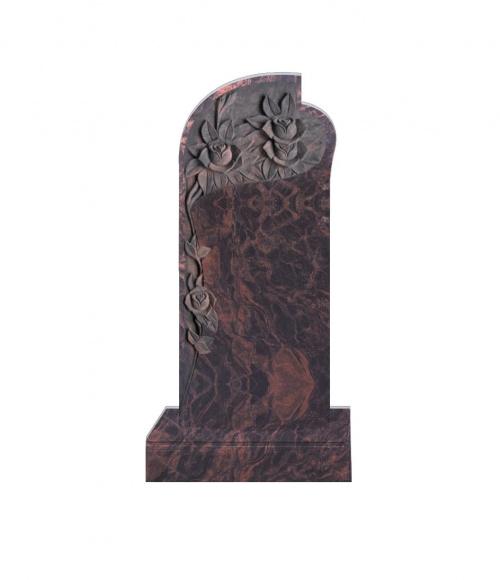 Памятник №12 элитный вертикальный 1600*700*120 (Индия, коричневый К11)