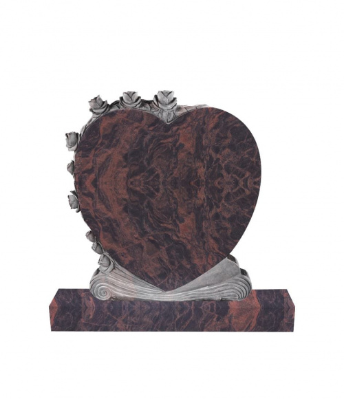 Памятник №13 элитный вертикальный 1000*900*100 (Индия, коричневый К11)