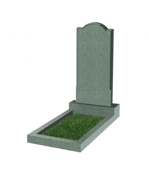 Памятник №10 резной вертикальный 1000*450*70 (Китай, зеленый К02)